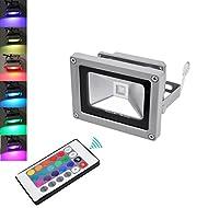 4 X LianLe 10W RGB LED Lumière crue avec télécommande IR, couleur étanche Charge lampe extérieure, AC 85-265V, 50 / 60Hz