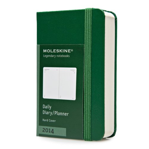 Moleskine 2014 Daily Planner, 12 Month, Extra Small, Oxide Green, Hard Cover (2.5 x 4 ) (Planners & Datebooks)