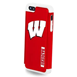 Buy Forever Collectibles NCAA Dual Hybrid iPhone 5 5S Rugged Case - Retail Packaging - Wisconsin Badgers by Forever Collectibles