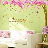 Rainbow Wall-stickers Wall Decor Removable Decal Sticker -Giant Cherry Blossoms Tree by Wall decor