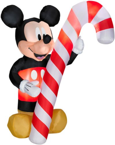 Disney Mickey Mouse 5 Foot With Candy Cane Airblown Inflatable