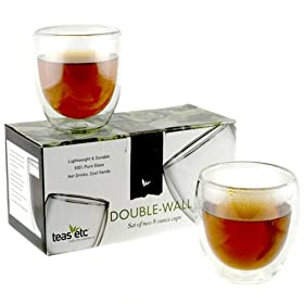 Teas Etc Double Wall Glass Cup Set of 2