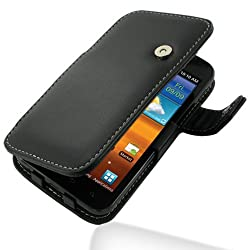 PDair Leather Case for Samsung Galaxy S II Epic 4G Touch SPH-D710 - Book Type (Black)