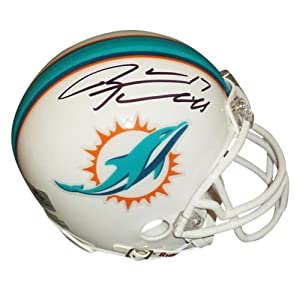 Ryan Tannehill Autographed Miami Dolphins Mini Helmet - RT Holo by PalmBeachAutographs.com