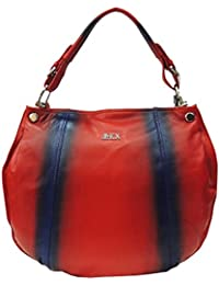 Mex Red Leather Women Shoulder Bag