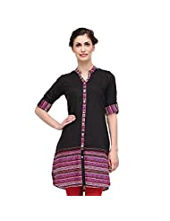 Sia Fashion Black Mix And Match Printed Kurta For Women - B00R2IN0X2
