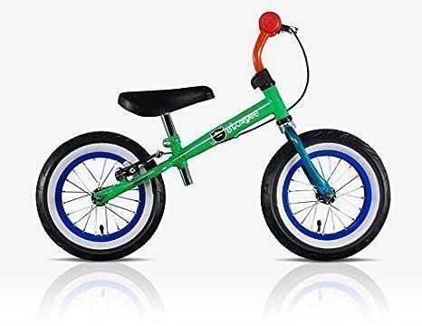 Stompee Vélo Équilibre 2-6ans Funk (Vert, Rouge & Bleu) - nouvelles Couleurs