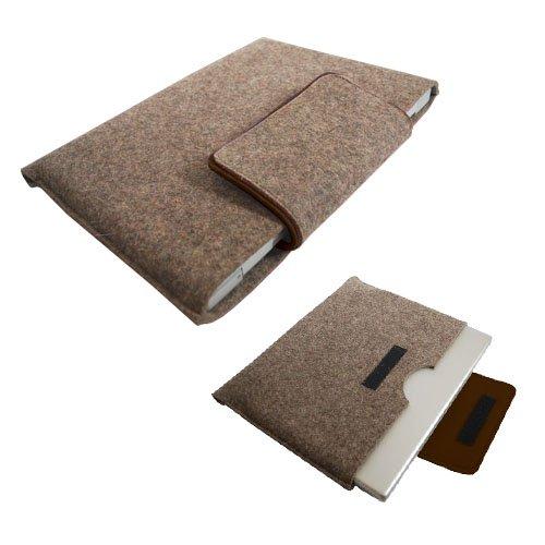 Gray with Dark Brown Trim Laptop Sleeve 15