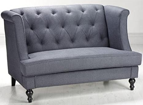 "Morgan Settee, 37.5""Hx56.5""W, BLUE"