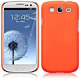 Neon Orange Samsung Galaxy S3 / SIII / I9300 Rubber Back Cover / Case / Shell / Skin With 2-In-1 Screen Protector Packby Covert