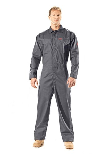 Benchmark Men'S Flame Resistant Feather Weight Coverall, Hrc 1, Navy, Xl front-605794
