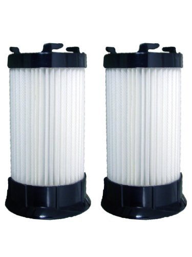 (2) Eureka Type Dcf4-Dcf18 Upright Vacuum Cleaner Hepa Pleated Washable Filter W/activated Charcoal, Whirlwind, Mighty Mite, Maxima, Boss Power Plus, Pet Pal, Lightforce 300, Lightspeed 100, General Electric, Ge, 63073 4700 5500 (Eureka Power Plus Filter compare prices)