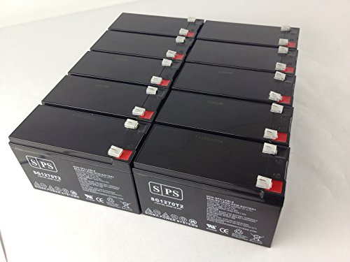 12V 7Ah (SPS Brand) MGE Pulsar ES 11 Plus UPS Replacement Battery ( 10 Pack)
