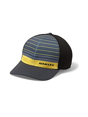 7454c3eb5c1 Oakley Mens Silicon Bark Trucker 4.0 Print Flexfit Hat - Import It All