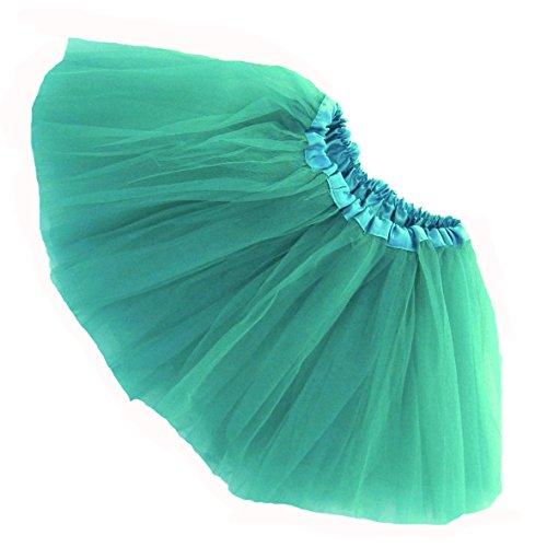 [Southern Wrag Company GIRLS Tutu S-M-L Plus Size (M:TUTU WAIST 22-44, JADE TUTU)] (Girls Jade Princess Costumes)