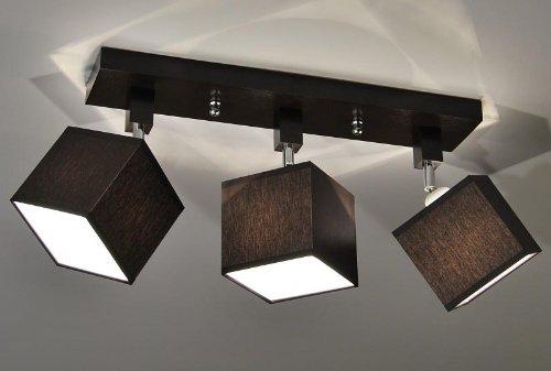 Designer-Decken-Leuchte-Lampe-Retro-Spot-Strahler-Salon-Bar-Theke-E27-Power-LED-New-York-10-Sockelfarbe-Natur