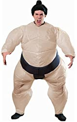 Inflatable Sumo Costume with Battery Operated Fan