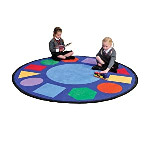 Round Geometric Learning Rug from Liberty House