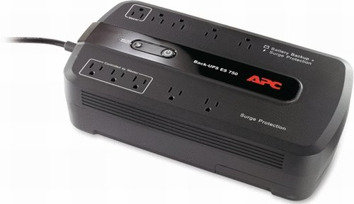 APC Battery Backup & Surge Protector (BE750G) - 750VA 10-outlet Uninterruptible Power Supply (UPS) (Apc Ups 450 Battery compare prices)
