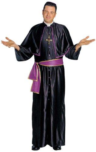 39912 - Erwachsenenkostüm Bischof, Gewand mit Pelegrina, Gürtel und Scheitelkäppchen