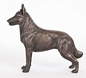 Belgian Malinois: Cold-cast Bronze Figurine 5.5 Inches Long