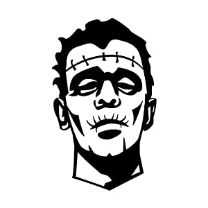 """Amazon.com: 2"""" inches black scary silhouette of frankenstein halloween"""