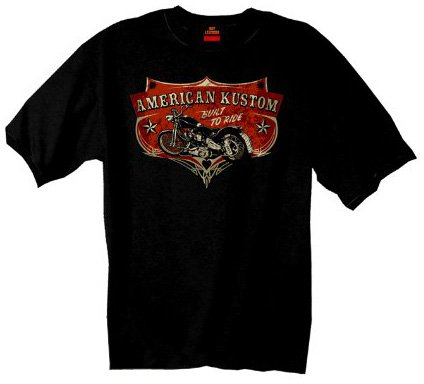 Hot Leathers Built To Ride Motorcycle T-Shirt (Black, Large)
