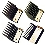 WAHL Professional Metal Clip Attachment Combs Set Black (Model:3160)