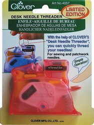 Great Features Of Clover Desk Needle Threader, Pink