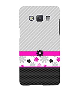 Flower Lines Pattern Cute Fashion 3D Hard Polycarbonate Designer Back Case Cover for Samsung Galaxy A7 :: Samsung Galaxy A7 Duos :: Samsung Galaxy A7 A700F A700FD A700K/A700S/A700L A7000 A7009 A700H A700YD