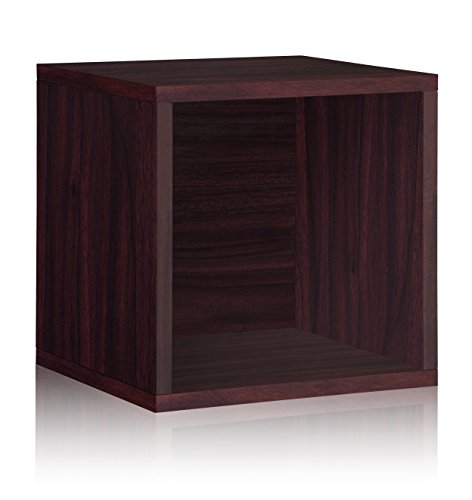 Way Basics Stackable Vinyl Record Storage and Record Album Storage Cube, Espresso - Fits 65 to 70 records (Lp Record Storage Rack compare prices)
