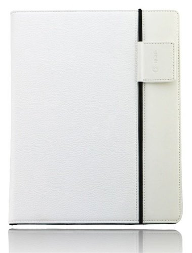 Splash SPL-IPD3-RDRP-WHT Raindrop Leather Case iPad 2 and 3 with stylus (White)