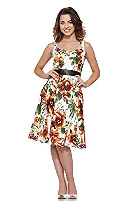 H&R-Women's Princess Lily Dress in Orange