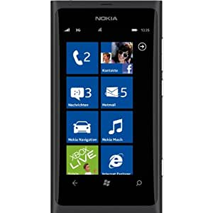 "Nokia Lumia 800 Smartphone Écran tactile 9,4 cm (3,7"") Appareil photo 8 Mpx Windows Phone Mango OS Branding T-Mobile Noir (Import Allemagne)"
