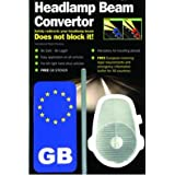 Streetwize Headlight Car Beam Deflectors For Driving Outside the UK - FREE GB Sticker Badgeby Streetwize