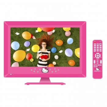 "Hello Kitty 15"" Led Television With Remote Control"