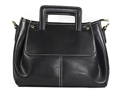 Sling Heels & Handles Handbag (Black) (N1063zblack)