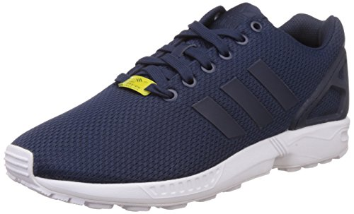 Adidas Zx Flux Scarpe da Corsa, Uomo, Blu (Dark Blue/Dark Blue/Core White), 44 2/3
