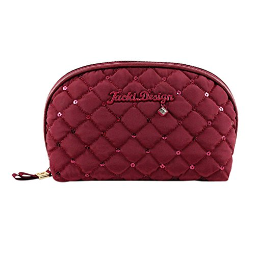 jacki-design-abc15018rd-bella-donna-dome-cosmetic-bag-red