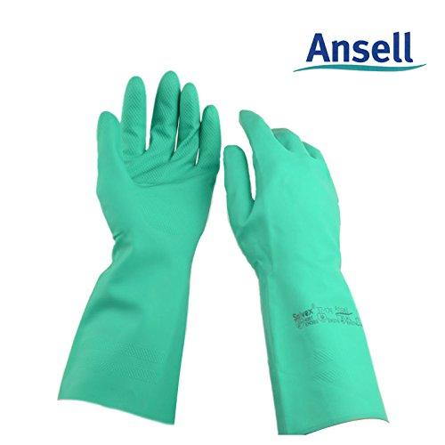 N°10 Paia di Guanti in Nitrile Antisolvente Ansell Ultranitril - 32cm - Verde