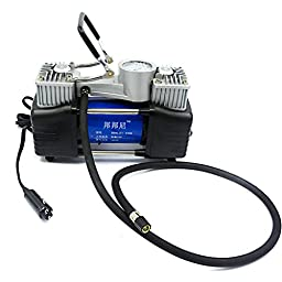 Green House-12V Electronic Air Compressor Ideal for Car and Bicycle Tires/Sports Ball/Airbeds