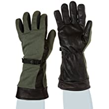 """Ansell ActivArmr 46-200 Nomex Kevlar Flame Resistant Fuel Handler Utility Glove with Gore Tex Lining, Chemical Resistant, Gauntlet Cuff, 14"""" Length, 2X-Large, Sage Green (1 Pair)"""