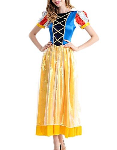 [RedExtend Women's Sexy Halloween Costume Snow White Cosplay Dress + Headdress] (Blow Up Head Costumes)