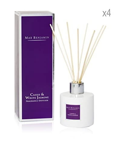 Max Benjamin Set x 4 Fragancias Para Difusor - Cassis & White Jasmine