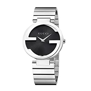 Gucci G-Gucci Collection Women's Quartz Watch with Black Dial Analogue Display and Stainless Steel Bracelet YA133307