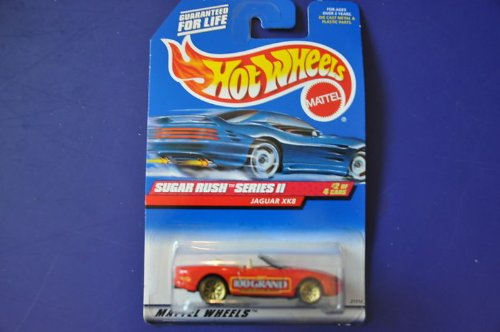 Hot Wheels 1998 Sugar Rush Series II 1:64 Scale Die Cast Metal Car # 2 of 4 - Red Nestle 100 Grand Convertible Coupe Jaguar XK8