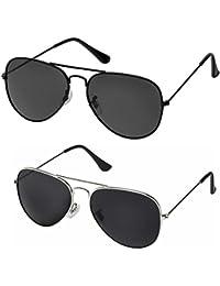 john lewis mens ray ban sunglasses  silver kartz classic aviator combo for unisex sunglasses (av001 0040