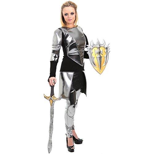 [GSG Joan of Arc Costume Female Warrior Knight Armor Princess Adult Fancy Dress] (Joan Of Arc Costume Halloween)