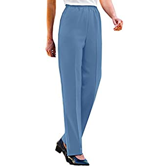 Blair women 39 s no iron poplin pants at amazon women s clothing store - How to unwrinkle your clothes with no iron ...