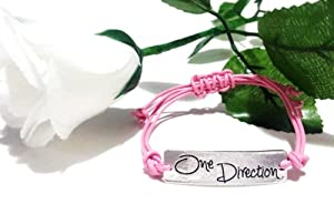 One Direction Pink Silver Friendship Bracelet Love Forever 1d Boy Band The Best Gift- One Any Size Adjustable